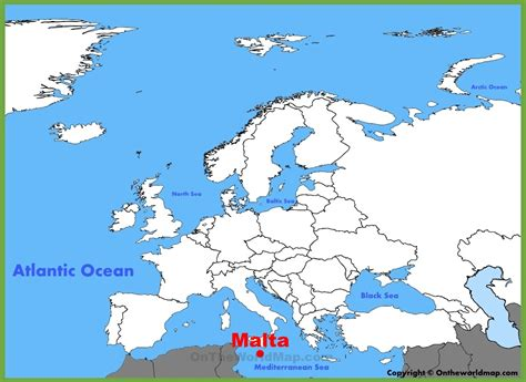 malta in the world map malta location on the europe map