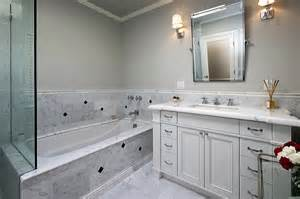 Mirror Trim For Bathroom Mirrors - carrara marble tiles traditional bathroom