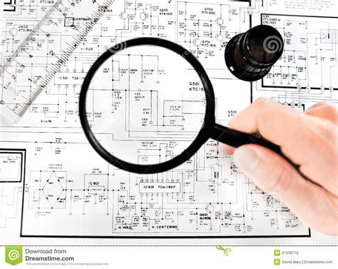 electronic map stock image image  engineering plan