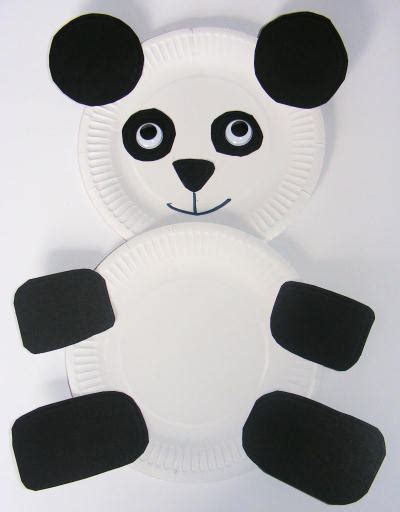 Panda Paper Plate Craft - paper calendar calendar template 2016
