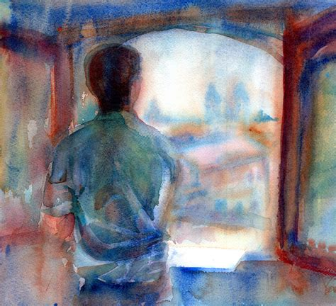 A Painting A Day by A Portrait A Day 48 Omar By Yevgenia Watts