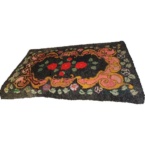 colorful rag rugs vintage rag rug colorful large flowers from premier antiques on ruby