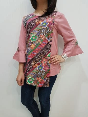 Blouse Modern Batik blouse batik modern wanita el 181 merk nurenka baju