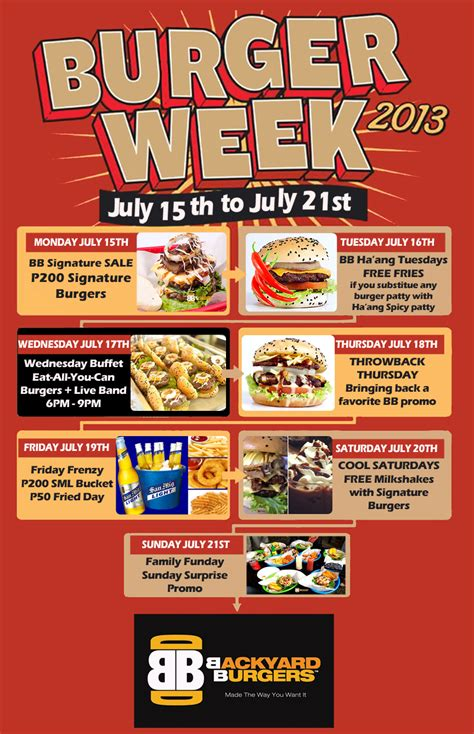 Backyard Burger Knoxville Tn Menu Backyard Burgers Burger Week July 15 21 2013 Davao
