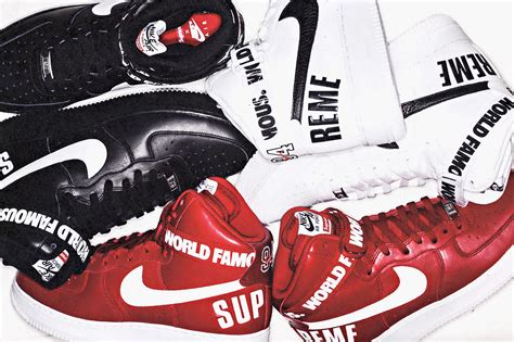 a first look at a first look at the supreme x nike air force 1 high collection hypebeast