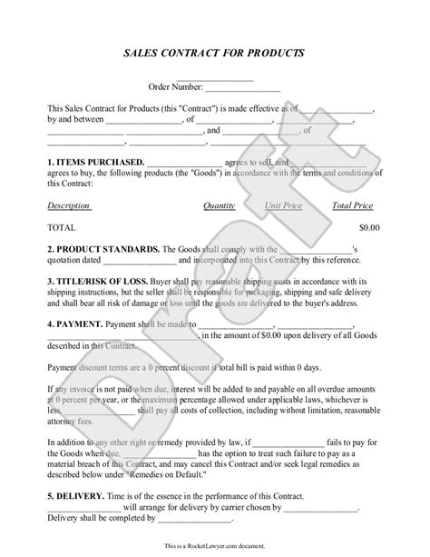 sale of goods agreement template top 5 resources to get free sales contract templates