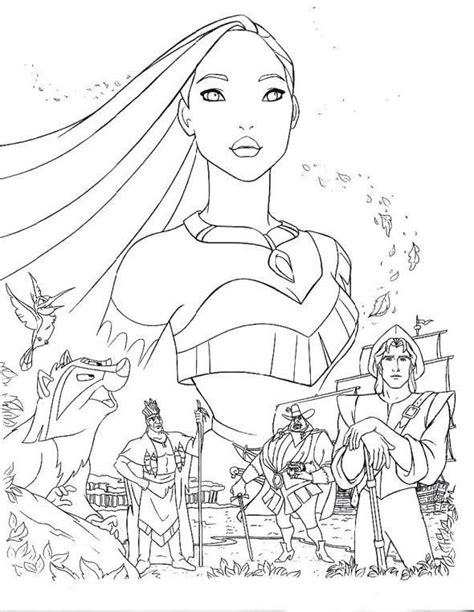pocahontas coloring pages disney princes pocahontas coloring pages jpg 590 215 762