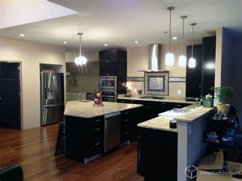Modern Black Kitchen Cabinets Black Kitchen Cabinets Modern Kitchen Richmond By Cliqstudios