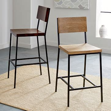 Rustic Modern Counter Stools by Rustic Bar Counter Stools West Elm