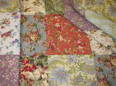 Cotton Patchwork Quilt - king 5pc blooming prairie greenland cotton patchwork quilt