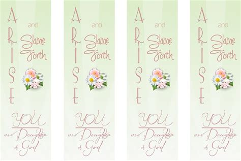 printable lds bookmarks arise and shine forth bookmark printable making book