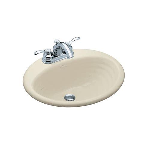 Cast Iron Bathroom Sink by Kohler Ellington Drop In Cast Iron Bathroom Sink In White