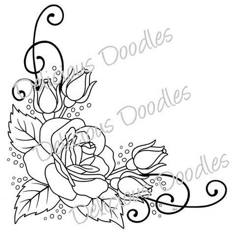 border rose tattoo free stencils free delicious doodles