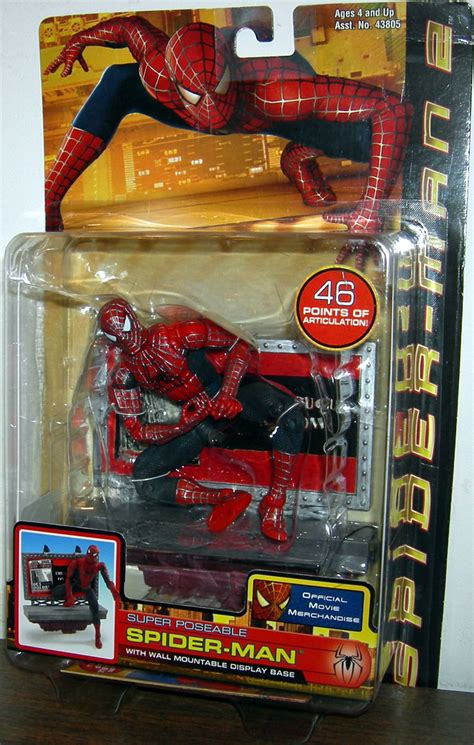 spider 2 figure poseable spider figure 2 wall mountable display base