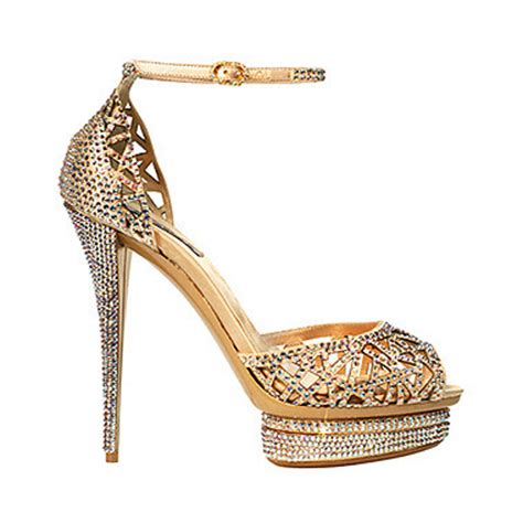 Gold Bridal Shoes by Wedding Light Gold Bridal Shoes