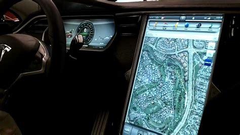 Tesla Navigation Tesla S Instrument Panel Closeup 17 Quot Display Gps Sat