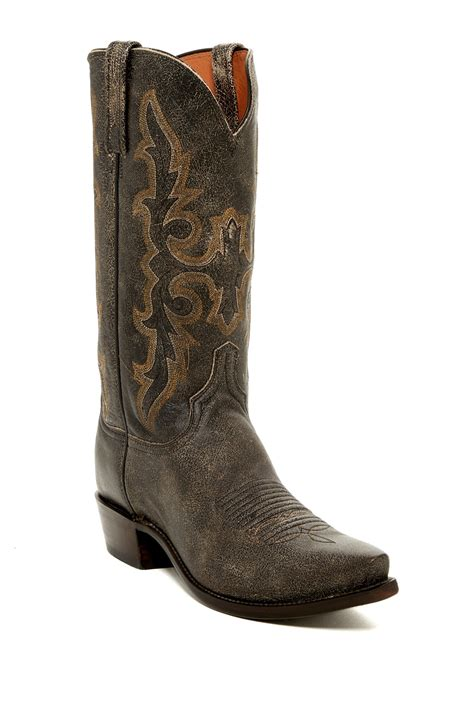 wide width boots for lucchese aviator boot wide width available for lyst