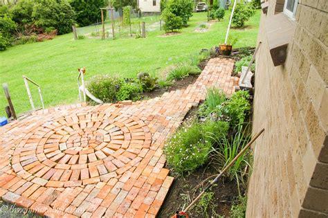bricks garden pics herb garden rustic brick path part 2 the whimsical