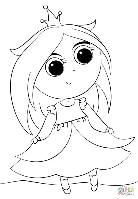 cute little coloring pages cute little princess coloring page free printable