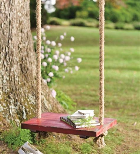 backyard tree swings rope tree swing with wooden seat traditional