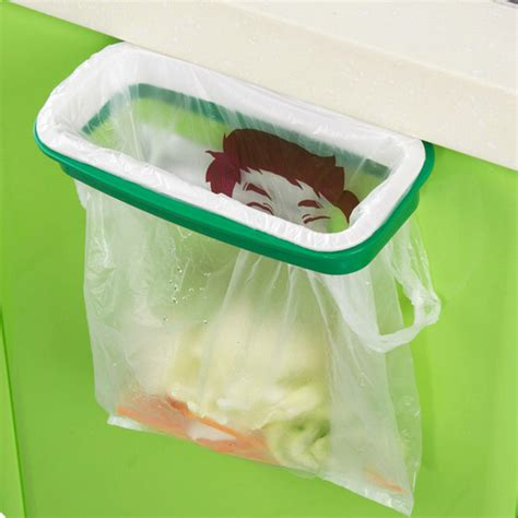 Kitchen Garbage Cabinet by Plastic Hanging Garbage Rubbish Bag Holder Kitchen