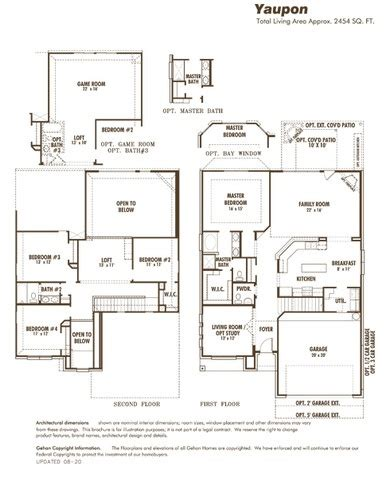 gehan homes floor plans gehan homes yaupon floor plan home design