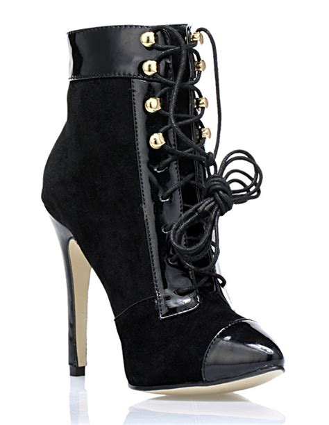 black lace up high heel booties black pointed toe lace up nubuck s high heel booties