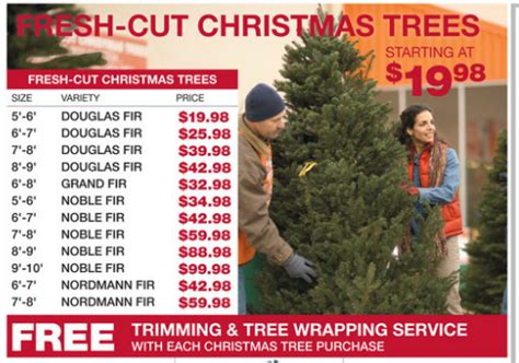 home depot christmas tree cost montebello montebello area trees prices 2011