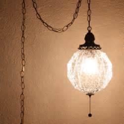Swag Pendant Light Vintage Hanging Light Hanging L Glass Globe Chain Cord Pull Chain Swag L