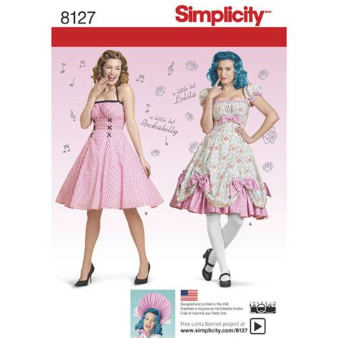 Vintage Home Decor Ideas by Simplicity Pattern 8127 Misses And Rockabilly Dresses