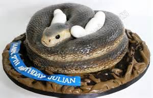 celebrate with cake sculpted snake black mumba cake