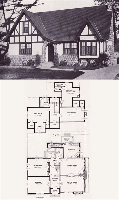 tudor revival house plans tudor stairways and libraries on pinterest