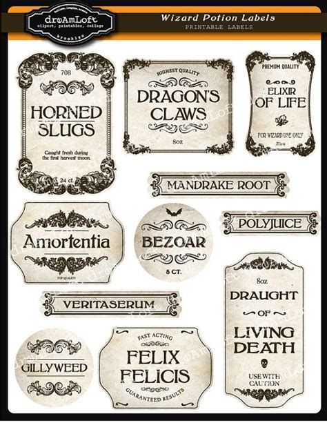 best 25 potion labels ideas on