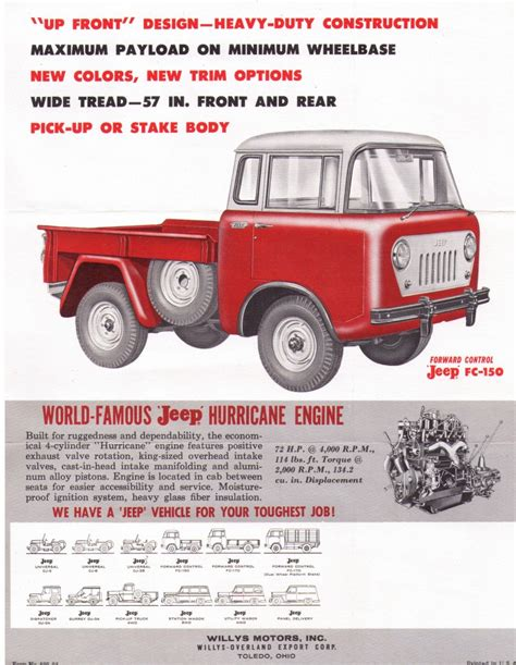 jeep fc 150 sales flyer jeep fc 150 1960 jeepwillysworld