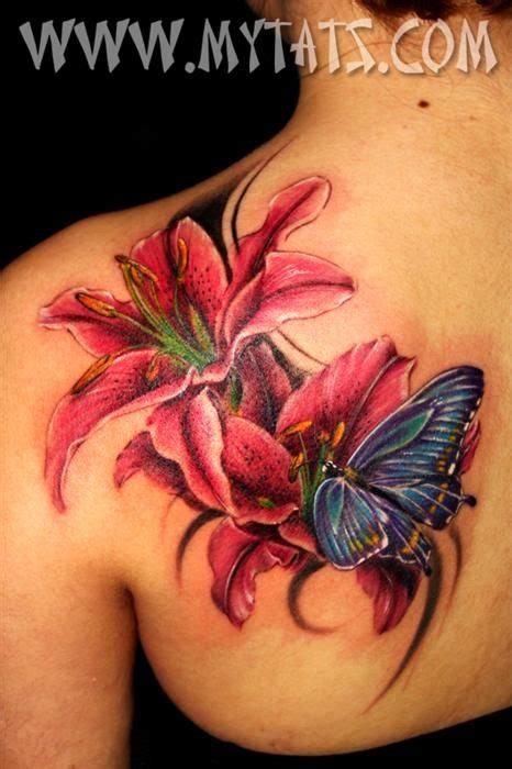 butterfly tattoo cost this works with my quot lily quot and quot butterfly quot idea tattoos