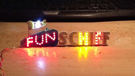 kirmes modellbau beleuchtung das schiff faller schriftzug mit smd led beleuchtung