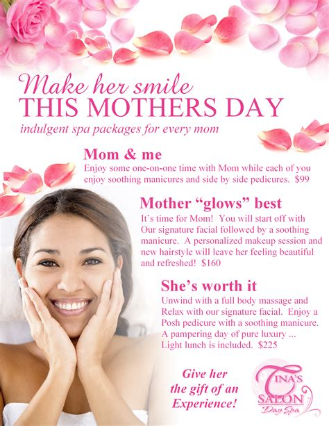 hair dresser s day mothers day spa packages