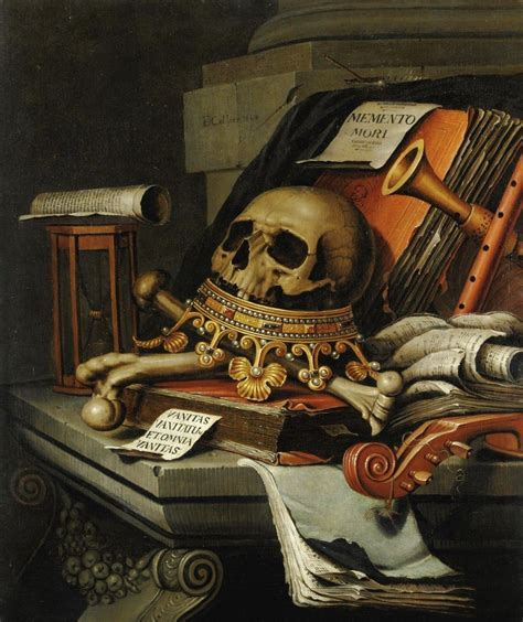 Tableau De Vanité by Vanitas Still With Crown 1680s By Edward Collier