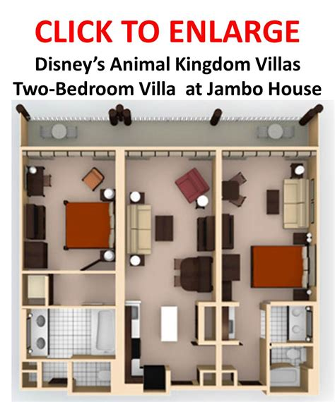 disney animal kingdom villas floor plan akl dvc value 2 bedroom villa wdwmagic unofficial walt