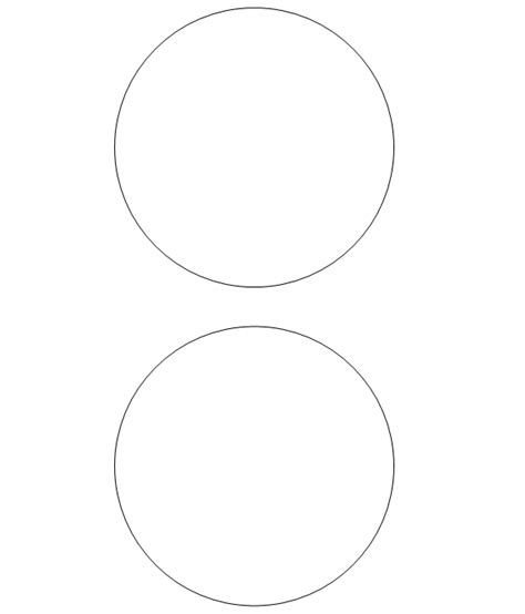 Free Printable Circle Templates Large And Small Stencils 6 Inch Circle Template