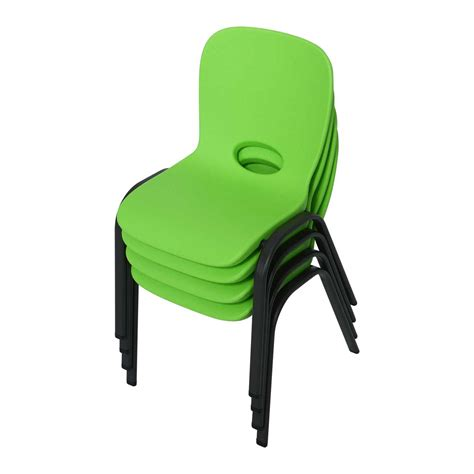 Lifetime Stacking Chairs by Lifetime Childrens Stacking Chairs 80473 4 Pack Lime Green