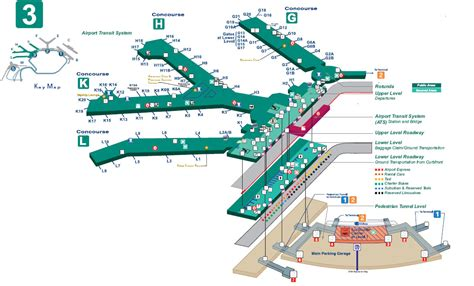 chicago airport map terminal 3 ord map map2