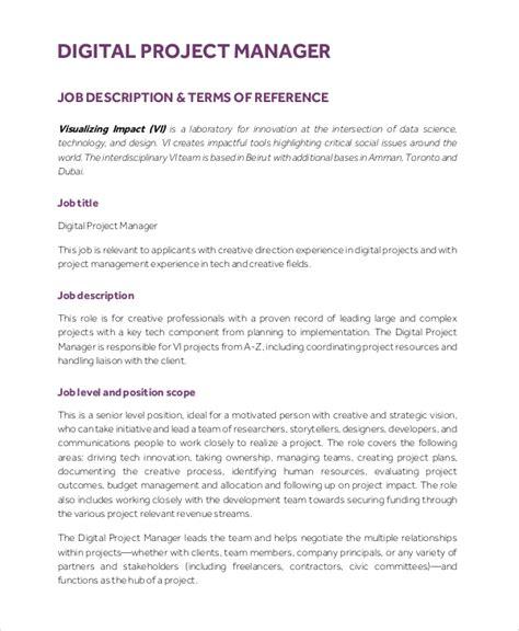 assistant project manager description performance evaluation basic understanding of