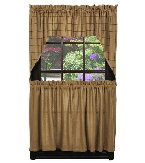 42 x 36 curtains burlap check window curtain swag 72 quot x 36 quot ihf