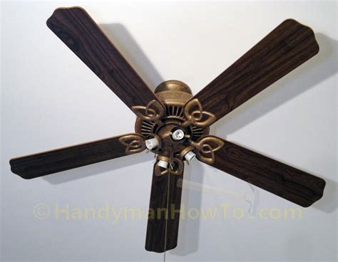replacing a ceiling fan ceiling fan light kit re installed