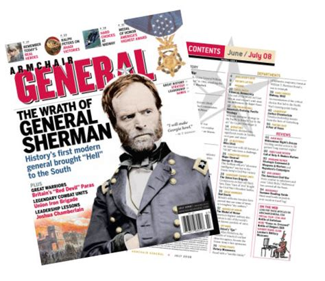 armchair general magazine july 2008 issue the wrath of general sherman armchair