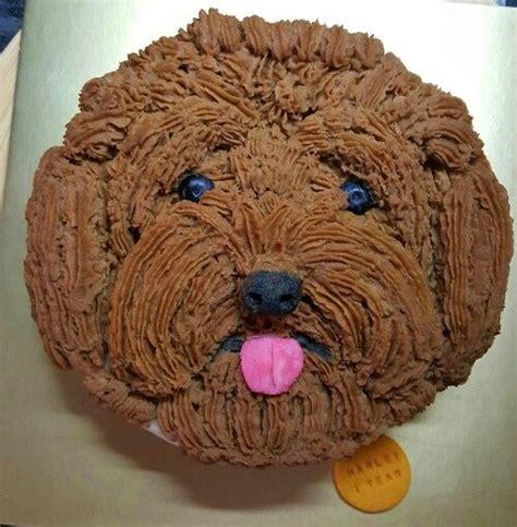 poodle face cake  hand piping  mashed potato