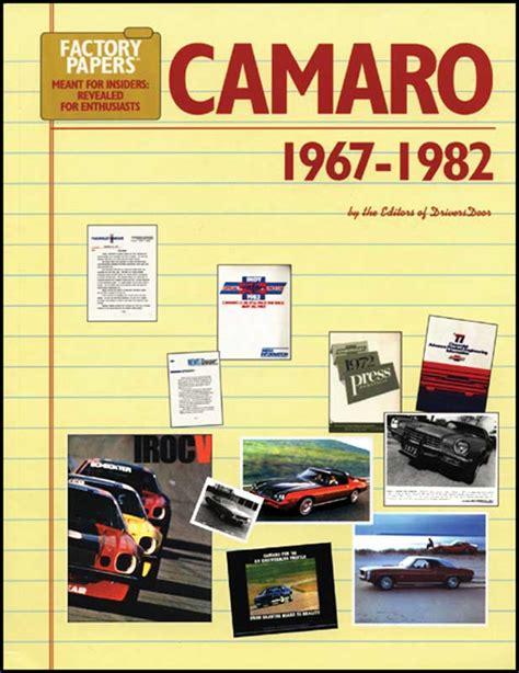 1979 chevrolet camaro parts literature multimedia literature shop manuals classic 1968 chevrolet camaro parts literature multimedia literature classic industries