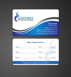Physiotherapy Business Cards Templates by 107 Modern Professional Physical Therapy Business Card