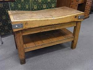 Primitive Kitchen Islands Antique Butcher Block Table For Sale In Bracebridge